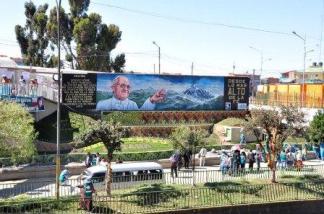 Presentan mural dedicado a la llegada del Papa Francisco I (2)